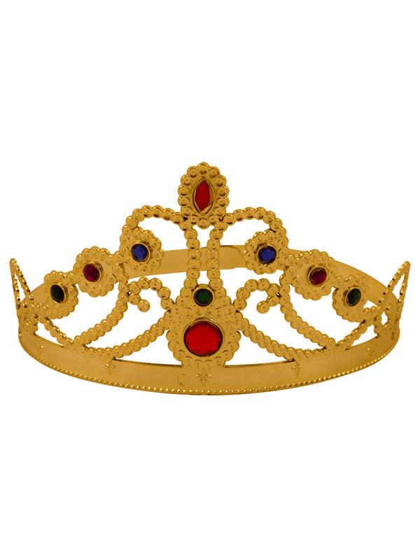 Adult Ladies Medieval Queens Adjustable Gold Crown