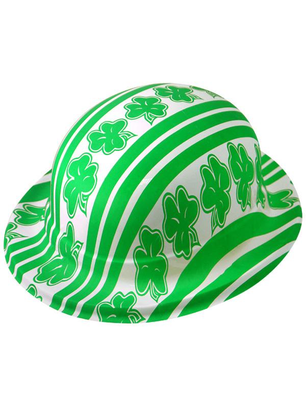Adult Plastic Bowler Shamrock Hat