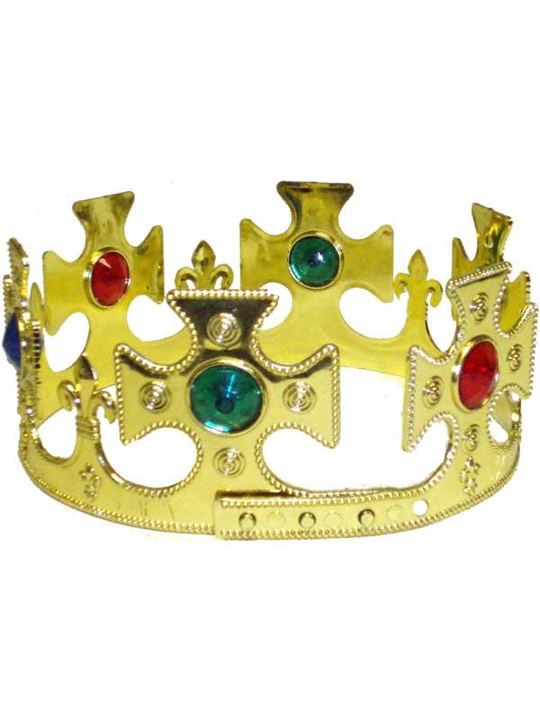 Adult Mens Medieval Kings Adjustable Gold Crown