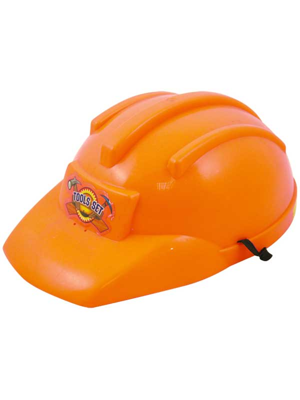 Child Boys Hat Builders Orange