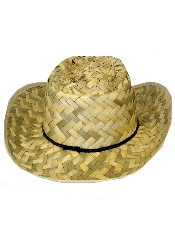 Adult Straw Western Ranger Cowboy Hat