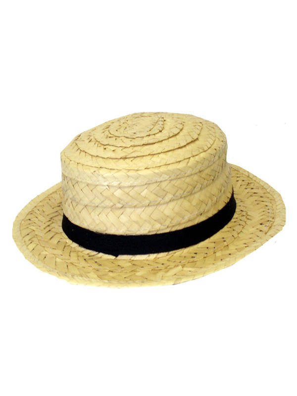 Adult Mens Hat Straw Boater