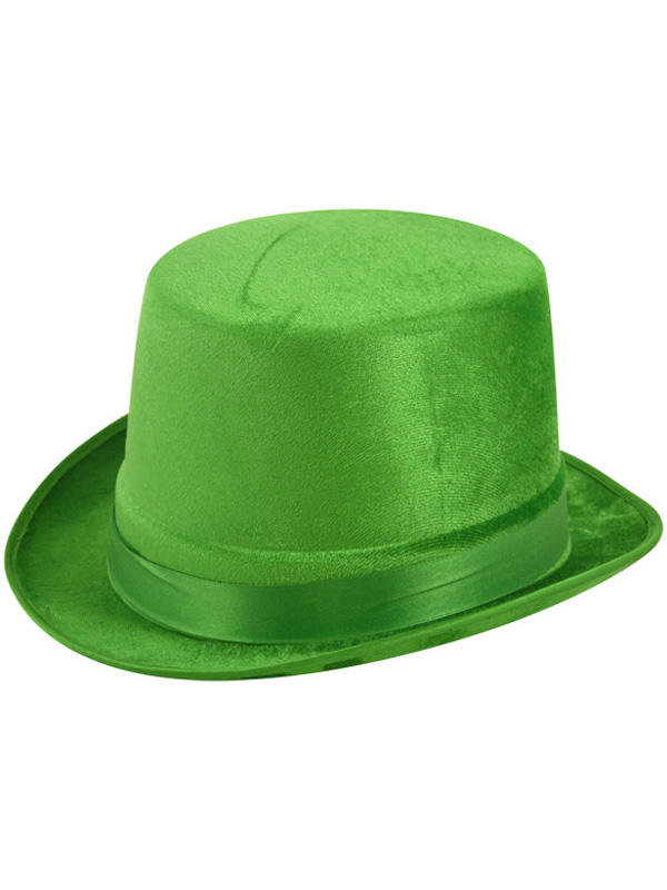 Adult Green Velour Topper Hat
