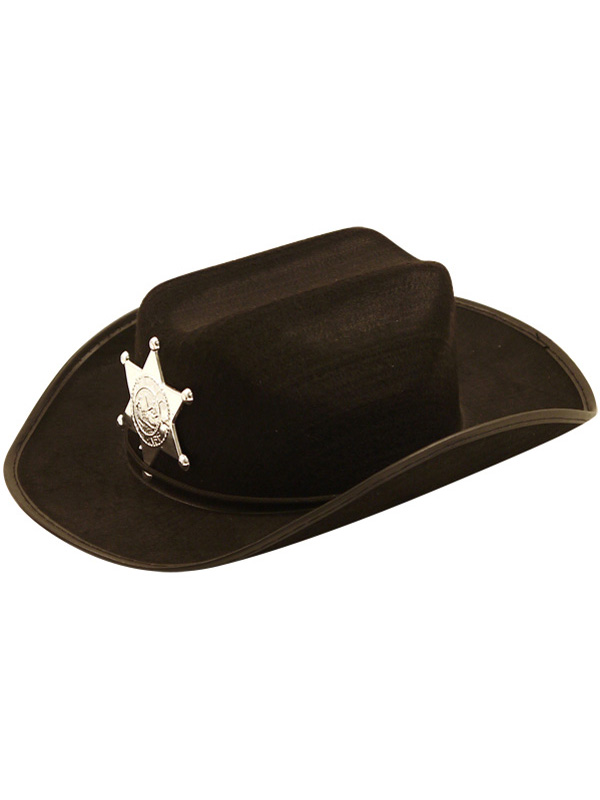 Child Boys Hat Cowboy Black With Star