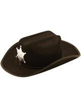 Child Boys Hat Cowboy Black With Star