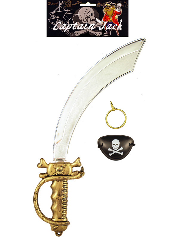 Pirate Sword With Eyepatch Earring