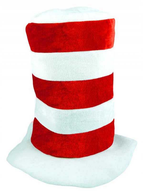 Child Hat Tall Red & White