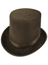 Adult Mens Hat Lincoln Velour Black