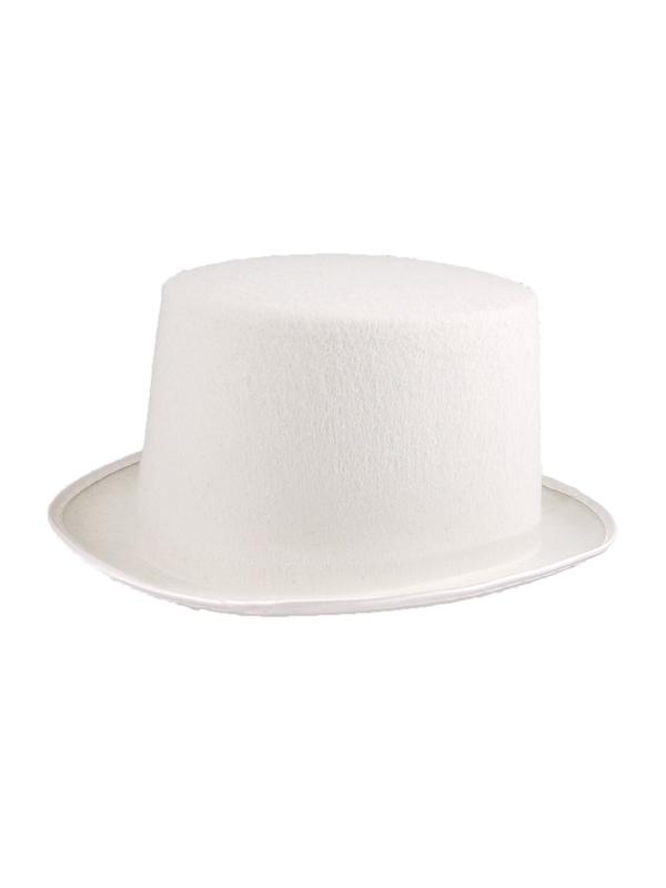 Adult Mens Hat Topper Felt White