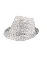 Adult Ladies Hat Gangster Tinsel Silver