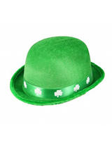 Adult Felt Irish Bowler Hat with Shamrock Band