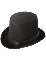 Adult Mens Hat Topper Velour Black