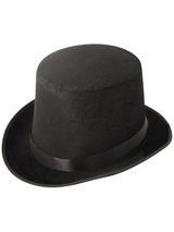 Adult Mens Hat Topper Velour Black