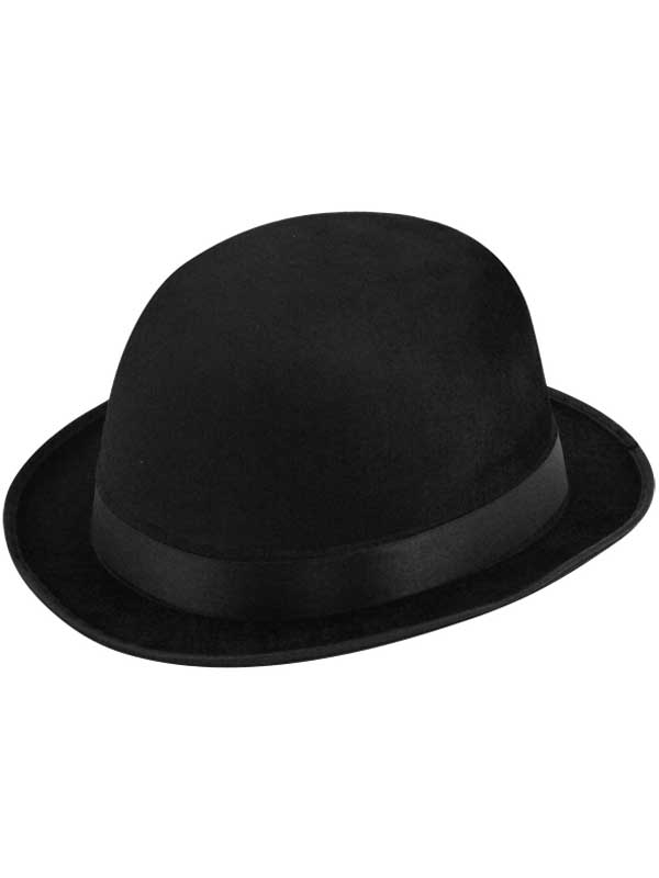 Adult Bowler Hat (Black Velour)