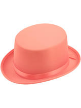 Adult Ladies Hat Topper Satin Pink