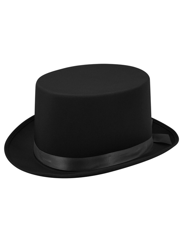 Adult Mens Hat Topper Satin Black