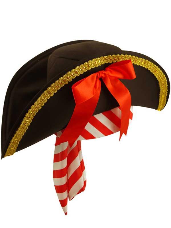 Adult Ladies Pirate Hat with Bandana Thumbnail 2
