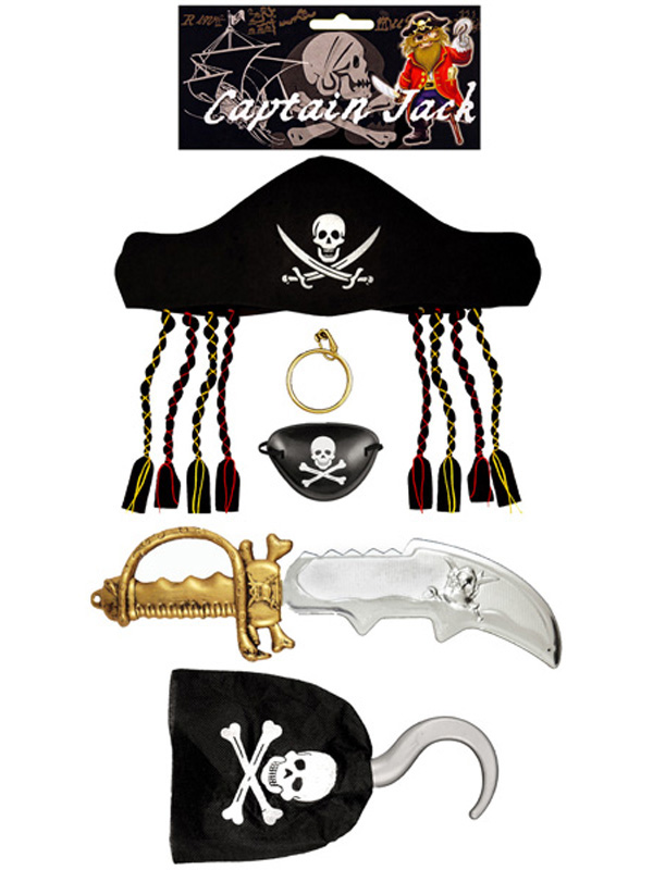 Child Pirate Set 5pc with Sword