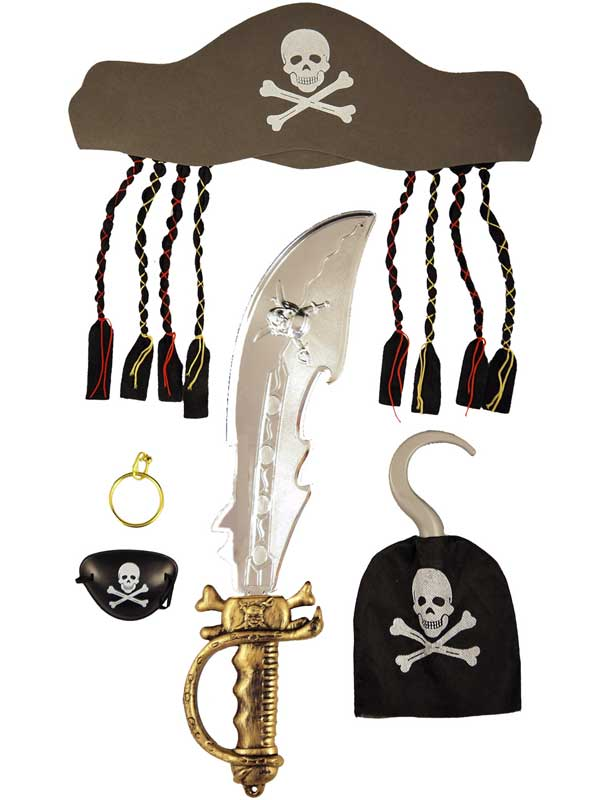 Adult Pirate Set 5pc with Sword