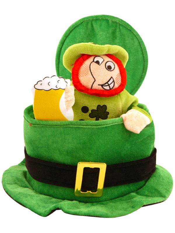 Adult Leprechaun Man in Topper Hat