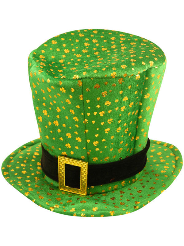 Adult Mens Hat Topper Irish With Buckle And Shamrock