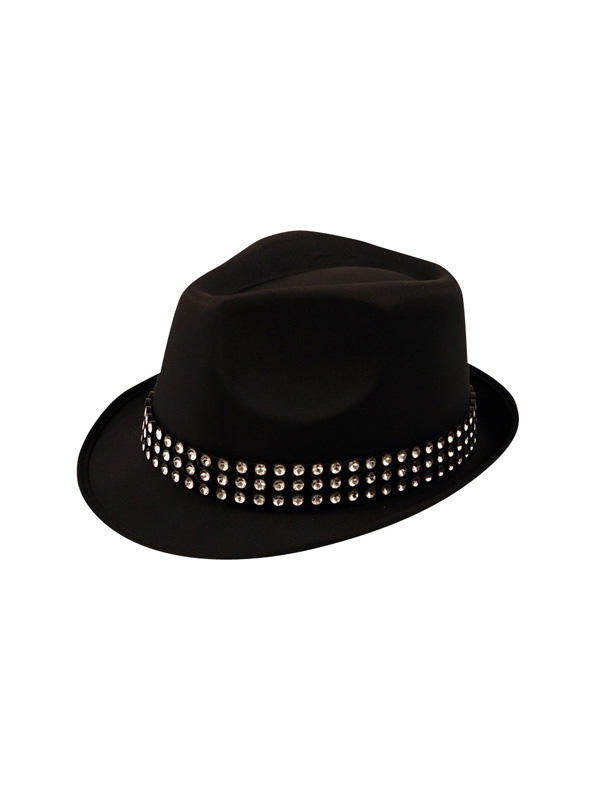 Adult Hat Trilby With Gem Stones