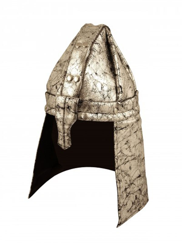 Adult Mens Helmet Soldier Silver Fabric