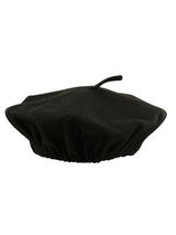 Adult Mens Black Beret Hat