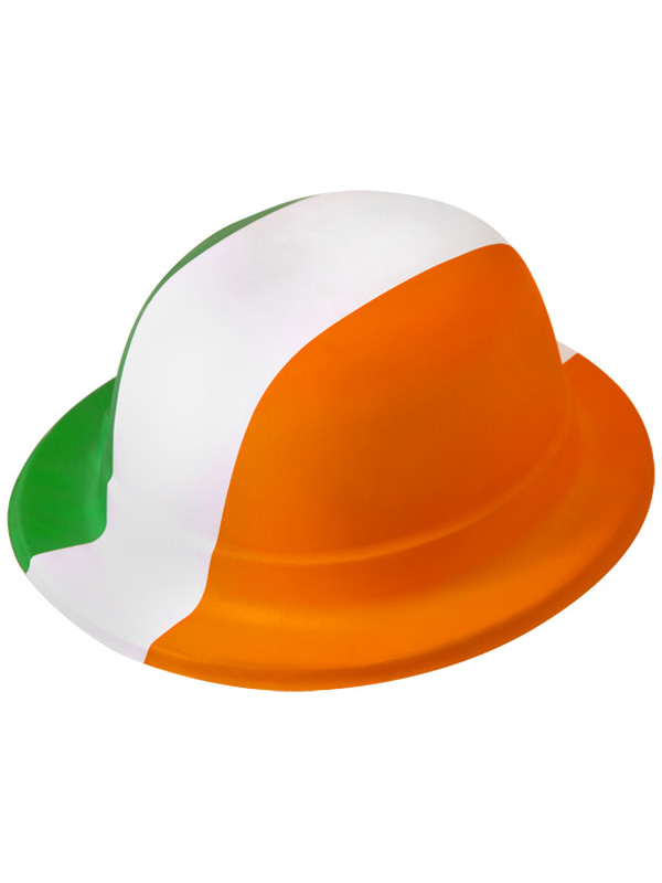Hat Bowler Eire Orange White Green