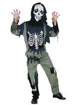Child Boys Skeleton Zombie Costume