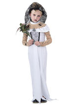 Child Girls Zombie Bride Costume