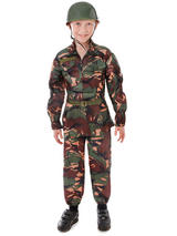 Child Soldier Camouflage Costume