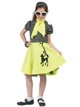 Child Poodle Dress Yello With Black Costume
