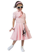 Child Poodle Dress Pink Costume