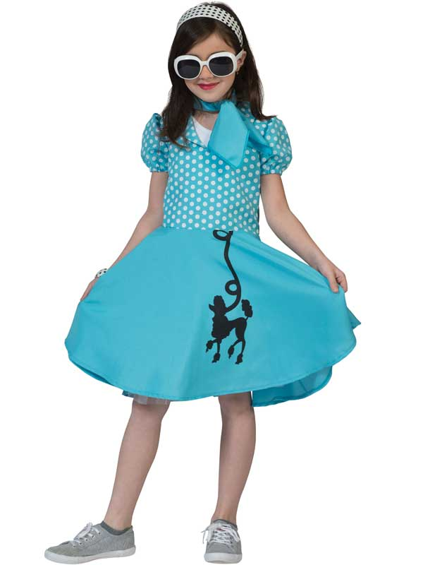 Child Poodle Dress Blue Costume