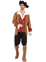 Pirate Red Brown Costume