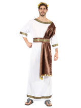Greek God With Brown Sash Costume