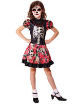 Child Girls Day Of The Dead Girl Costume