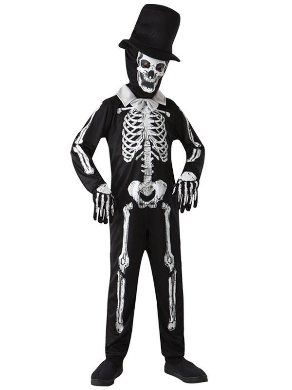 Child Boys Skeleton Bone Zombie Costume