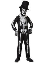 Child Boys Skeleton Bone Zombie Costume
