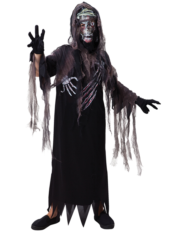 Child Boys Terror Reaper Hooded Costume