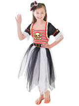 Child Pirate Princess Dress + Headband Costume