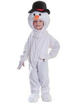 Child Plush Snowman Costume