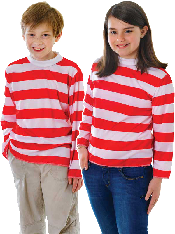Child Red & White Striped Shirt