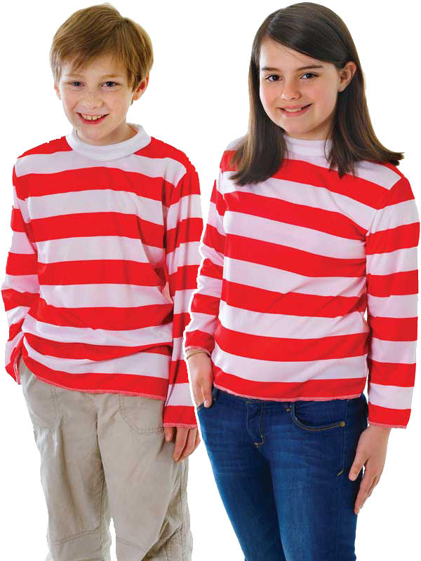 Child Red & White Striped Shirt Thumbnail 1