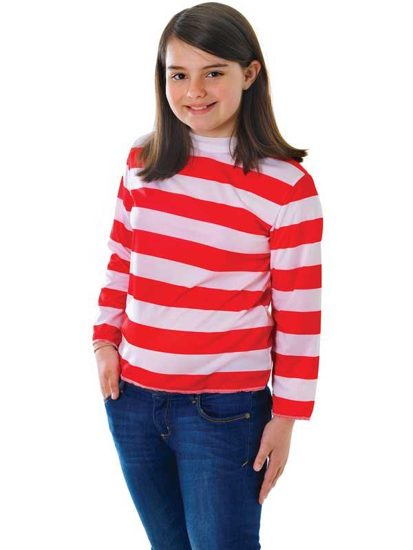 Child Red & White Striped Shirt Thumbnail 2