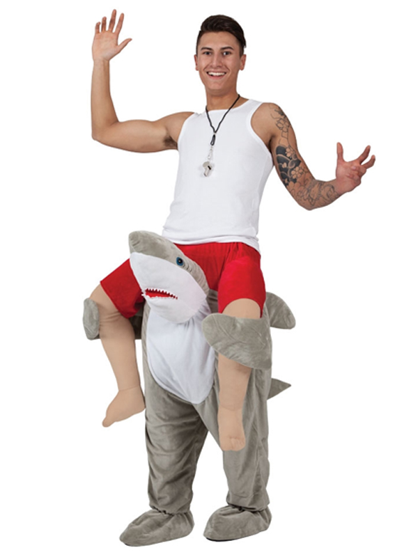 Sentinel Carry Me Ride On Piggy Back Shark Stag Mascot Fancy Dress Costume Jaws Halloween  sc 1 st  eBay & Carry Me Ride On Piggy Back Shark Stag Mascot Fancy Dress Costume ...