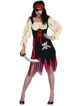 Pirate Zombie Wench Costume