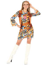 Hippy Mod Dress & Waistcoat Costume