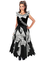 Child Girls Zombie Prom Queen Costume